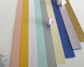 Precious Metal (Part III - Pastel Patch) Origami Lucky Star Paper Strips - pack of 80 strips