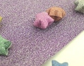 Mauve Purple - Single Colored Magical Fairy Dust Origami Lucky Star Paper Strips - pack of 20 strips