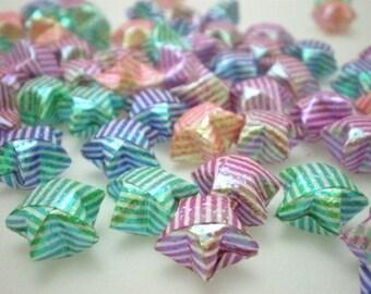 100 Teeny Stripey Pearl Origami Lucky Stars