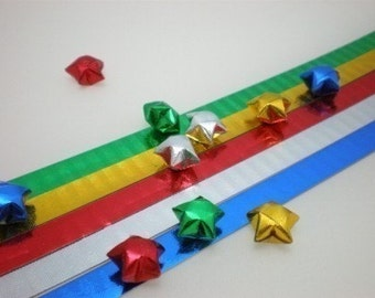 Laser Effect Stripes Origami Lucky Star Paper Strips - pack of 80 strips