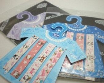 T-Shirt Hanger - Kitty Origami Lucky Star Folding Paper - Gift pack of 36 strips