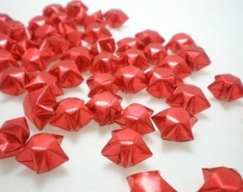 100 Fiery Red Origami Lucky Stars - custom order available