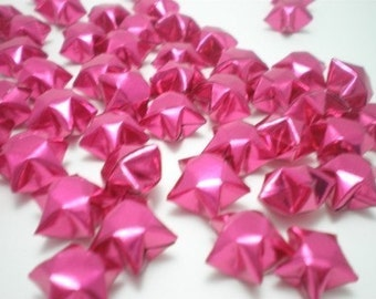 100 Hot Pink Origami Lucky Stars - custom order available