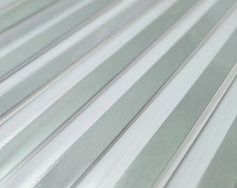 Liquid Silver Origami Lucky Star Paper Strips - flat pack of 60 strips