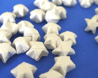100 Pure Shimmer - Ivory White Origami Lucky Stars