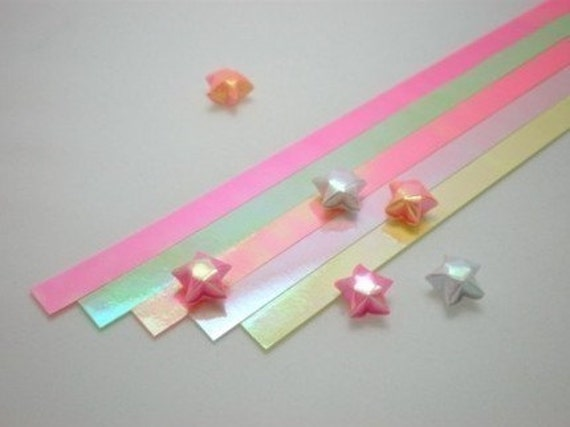 Sunset Glory Glossy Origami Lucky Star Paper Strips - pack of 70 strips