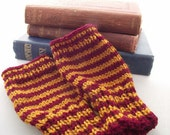 Fingerless Gloves Gryffindor Inspired Harry Potter One Size Autumn Winter Cosy