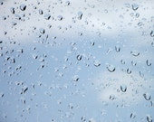 Rain Drops Photograph Aqua Blue Sky Home Decor BOGO 10x8 Print After The Rain...