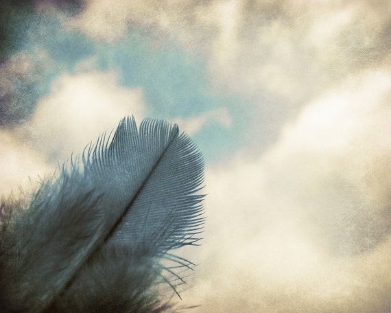 Feather Photography, Home Decor, Blue Sky, Landscape, 10x8 Print, Clouds, Dreams Of Flight...