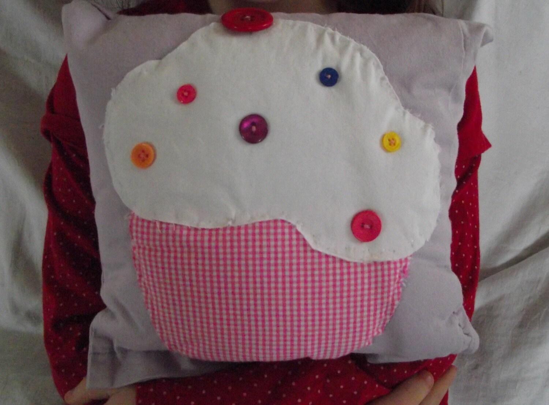 cupcake motif cushion pillow bedroom decor lilac