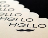 Set of 12 Mini Note Cards - Hello Mr. Mustache