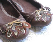 PIPER -- Rustic Woodland Hippie Boho Natural Bronze and Cream Almond Pheasant Feather Shoe Clips w/ Small Suede Bow