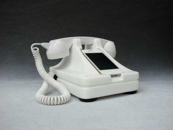iRetrofone Classic White - iPhone docking station