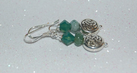 Celtic Knot Jasper Sterling Silver Earrings