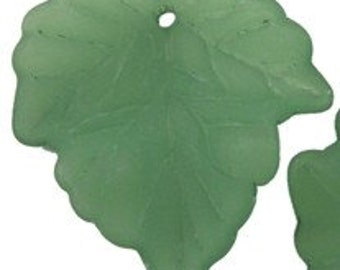 Large Lucite Maple Leaf, Leaves Green, FORTY