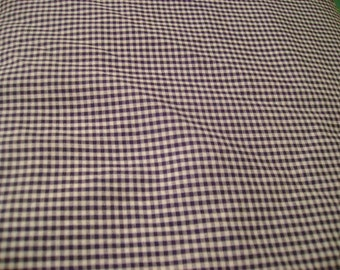 Navy Gingham Small Check Fabric