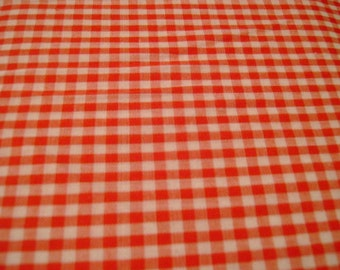 Red Gingham Medium Check Fabric
