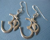 Om Earrings Sterling silver .Free ship and Gift Box