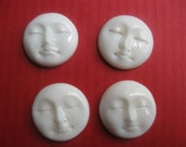FOR REIKO  hand carved bone faces, beads, cabachons, moons, goddess, you decide 20 mm lot of four wholesale
