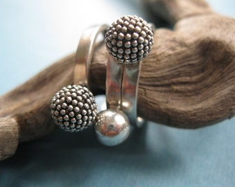 CRAZY stack pinecone ring STERLING SILVER Stack rings - Set of Three