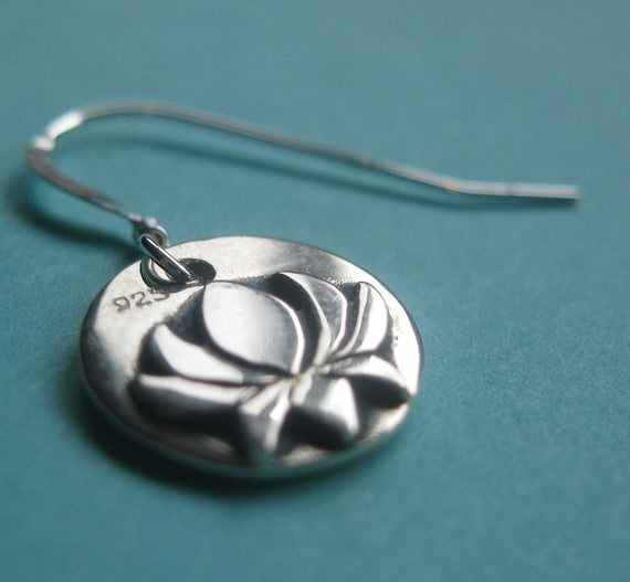 Lotus Flower Earrings STERLING SILVER