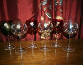 Set of 6 Vintage Jewelry Wine Charms-Classically Elegant