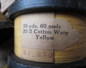 Yellow Cotton Warp for Structo Loom
