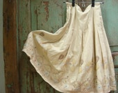 Vintage, Skirt, 60s, Cream, Gold, Applique, Studs, Free US Shipping, Vintage by JaxVintageStudio on Etsy
