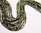 Green Zebra jasper 4mm round full strand 100 beads A quality - NRG176