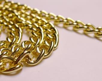 aluminium chain gold color,won't tarnish,hypoallergenic,1 meter-3.3 foot - CA 43