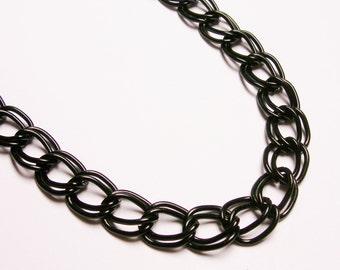 black chain made from aluminium ,hypoallergenic,1 meter-3.3 feet - CA 39