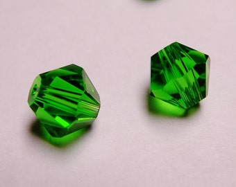 Crystal 6mm Bicone 60 pcs AA quality --sparkle evergreen green