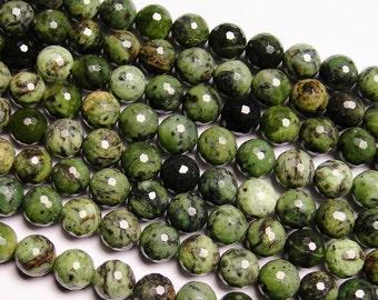 Rainforest jasper  - 12mm round faceted beads -1 full strand - 32beads - A Quality - NRG167