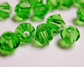 Crystal 4mm Bicone 100 pcs AA quality --sparkle mint green
