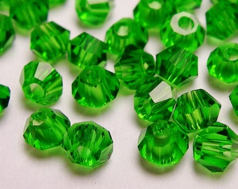 Crystal 3mm Bicone 100 pcs AA quality --sparkle evergreen green
