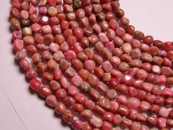 Rhodonite nugget  freedom shape  bead  1 full strand
