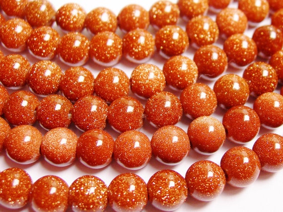 Goldstone 6mm 16 inches full strand AA Quality 68 beads