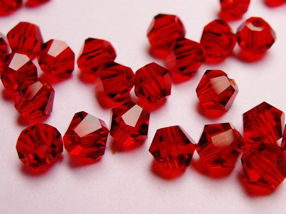 Crystal 4mm Bicone 50 pcs AA quality vivid red