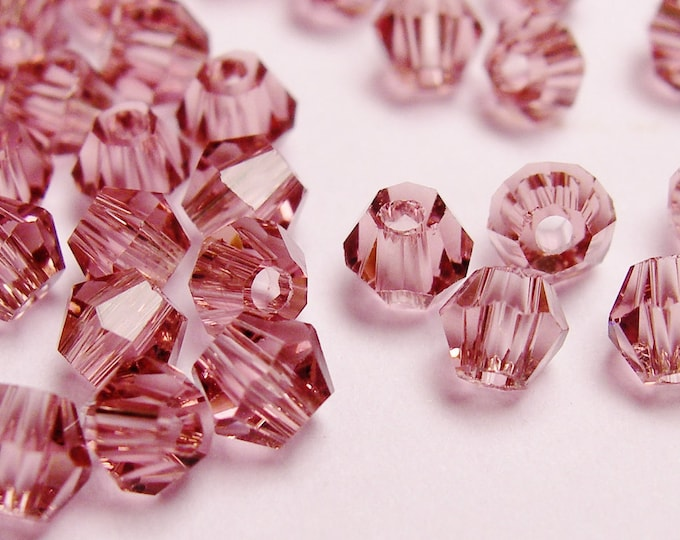 Crystal 3mm Bicone 100 pcs AA quality - sparkle purple amethyst