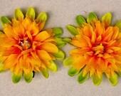 Bloomin Barrette Set, color palette - Oranges