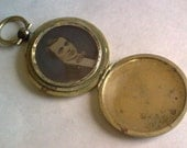 RESERVED FOR Shannie Stuart...  Antique Pocket Watch Locket... Rare Photo on Glass