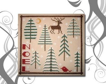 PDF E pattern Primitive Christmas Tree Cross Stitch Pattern Design 23