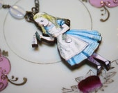 Alice In Wonderland Drink Me Necklace With Moonstone Beads