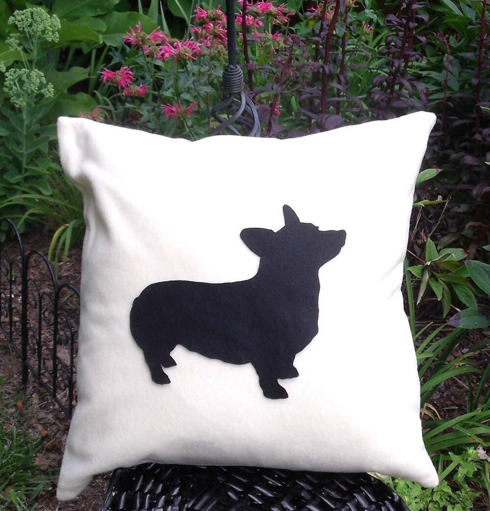 Corgi Silhouette Pillow 18x18
