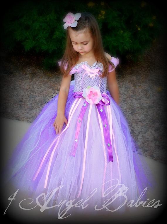 Items Similar To Rapunzel Girls Birthday Tutu Ball Gown
