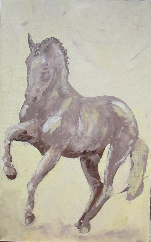 Dressage Horse Painting -Canter Pirouette 30 x 48