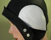 Black Cloche by Zazu and Violets hats