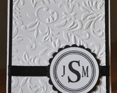 Monogram Cards 8 Pack 3 Initials--Reserved for Harriet