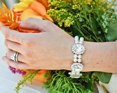 Pearl Bracelet,Bridal Bracelet,Bridal Pearl Rhinestone Bracelet,Ivory or White Pearls,Bridal Pearl Bracelet,Crystal Bracelet,Pearl,XENIA