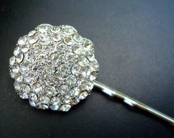 Rhinestone Hair Pin, Bridal Rhinestone Hair Pin,  Wedding Rhinestone Hair Pin,Bridal Jewelry,Wedding Jewerly,NAOMI